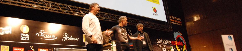 Madrid Fusion 2014 – World Top Chef Andoni Luis Aduriz, Dr. Luis Castellanos, Adrian Cheok launch world first digital smell food app.