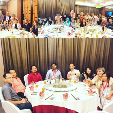 Appreciation dinner for all the helpers and chairs and keynote speakers of ace2015