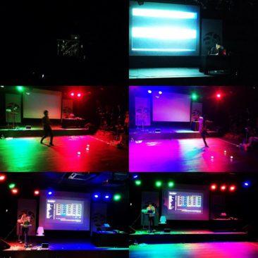 ACE2015 performances - robotic balls, automatic DJ machine, electric harp, sound visualizer