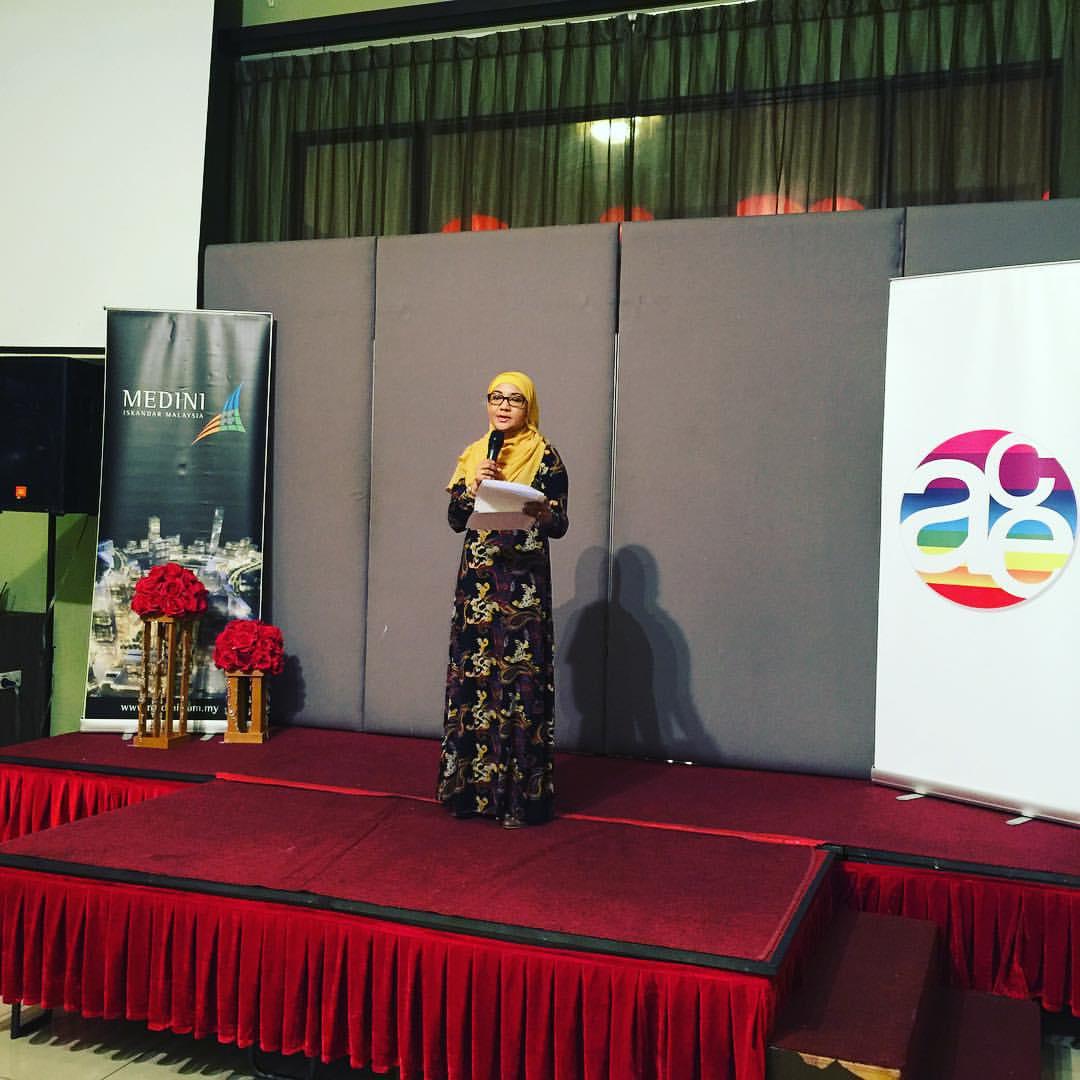 Gala dinner speech by Puan Zulaifah Abdul Ghani, Medini Iskandar Malaysia. Thank you for coming and Medini sponsorship of ACE Gala Dinner!