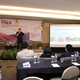 Keynote speaker Prof Adrian David Cheok REKA 2018, Solo, Indonesia